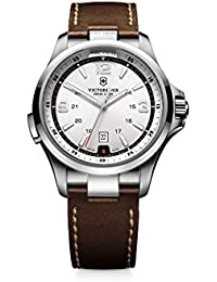 Men's 241570 Night Vision Stainless Steel Watch with Brown Band