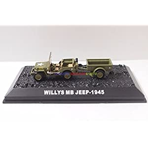 New 1/72 Tank US Army Willys MB Jeep 1945 American WWII Military