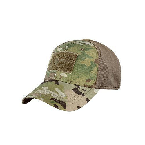 Camo Full Back Cap - Condor Outdoor Flex-Fit Tactical Cap (Multicam, L/XL)