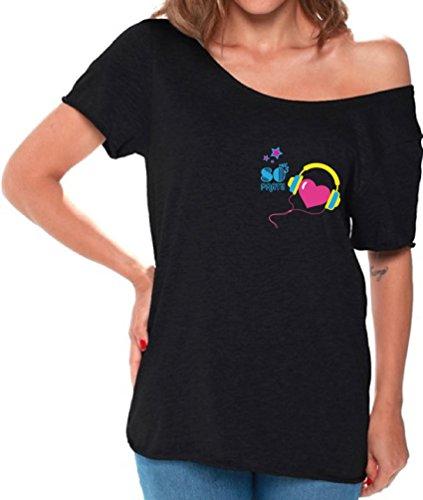 Off Shoulder 80s T Shirt for Women - 3 colors