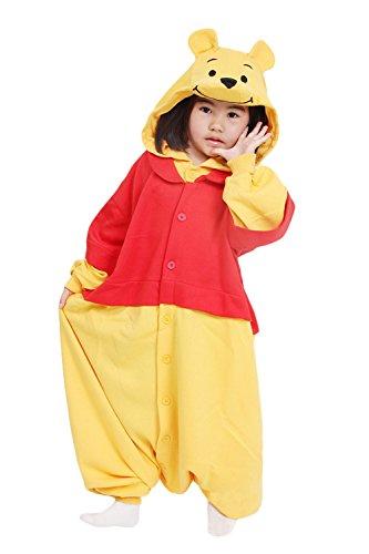 Sweetdress Unisex Children Animal Pyjamas Halloween Kids Cosplay Onesie (125, Winnie Pooh) -