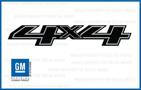 FBLK stickers Chevy Silverado Black Blackout Side set of 2-2018 4x4 Decals