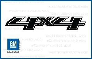 Amazoncom Chevy Silverado X Truck Black Blackout Stickers - Chevy decals for trucks