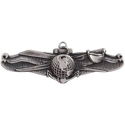Enlisted Badge - Medals of America Navy Information Dominance Warfare Enlisted Badge Silver Oxide Finish Regulation Size Full Size
