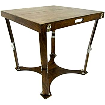 Spiderlegs Folding Cafe Table, 30 Inch, Dark Walnut