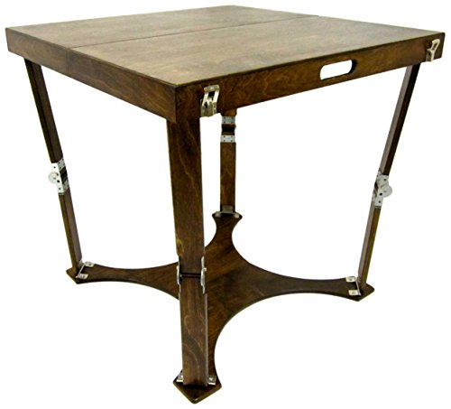 Spiderlegs Folding Cafe Table, 30-Inch, Dark Walnut
