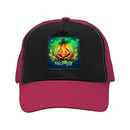 Kzonle Men's Creepy Halloween Hat Baseball Cap Unisex 3D Snapback Hat Mesh Adjustable for Men Women
