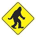 Sasquatch Bigfoot Warning Sign Vinyl Sticker Decal