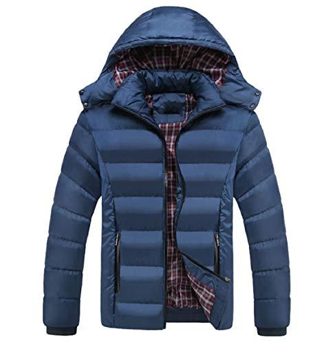 Incappucciati Di Packable Blu Giacche Degli Cappotti Giù Cerniera Denim Inverno Imbottiti Uomini Puffer Sicurezza 8AY8pX
