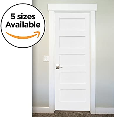 Amazon 5 Panel Door Slab Shaker Primed Solid Core Mdf Interior