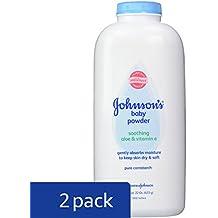 Johnson's Baby Powder, Pure Cornstarch, Aloe & Vitamin E, 22 Ounce (Pack of 2)