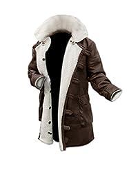 Mens Shearling Coat Brown Leather Shearling Jacket ►BEST SELLER◄
