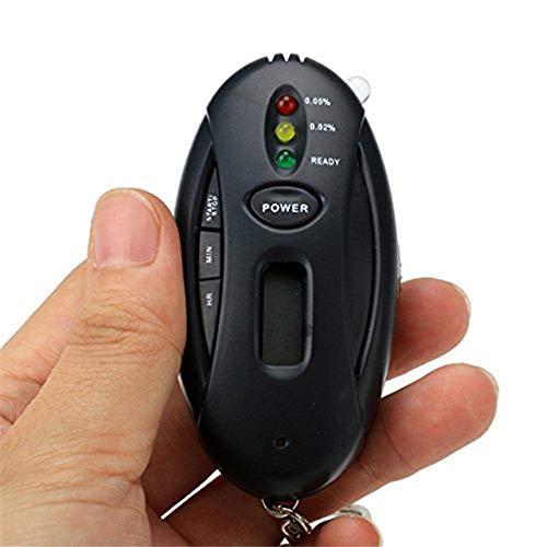 MIJNUX Portable Mini Alcohol Tester Digital Breath Quick Response Timer LED Light Warning Professional Breathalyzer Alcohol Detector