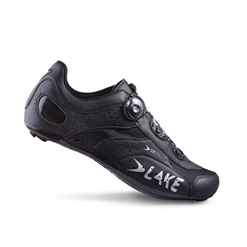 教思いやりすき湖cx331メンズ道路サイクリング靴、ブラック/シルバー