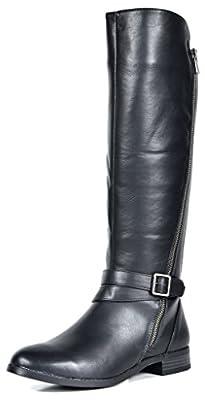TOETOS Women's Fashion Knee High Riding Boots (Wide-Calf)