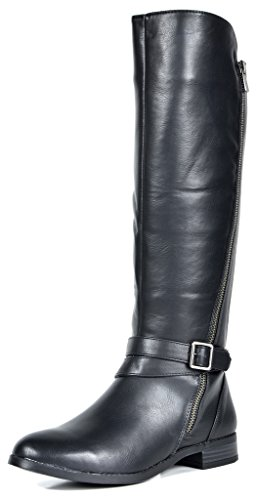f416034010d8 TOETOS Women s Donna Black Knee High Winter Riding Boots Size 11 M US