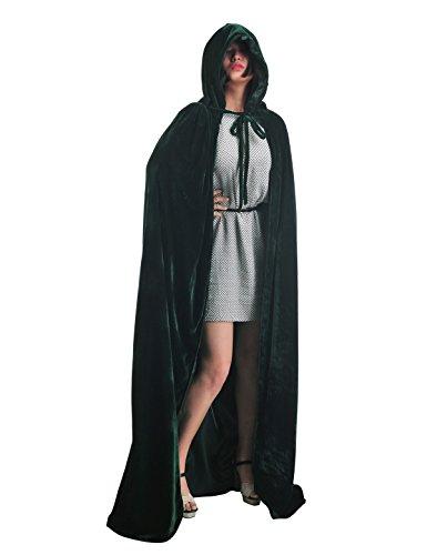 Topwedding Christmas Deluxe Cloak Adult Halloween Costumes Cape, dark green, (Dark Costumes Ideas Halloween)