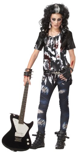 Zombie Punk Halloween Costume (California Costumes Toys Rocked Out Zombie, X-Large)