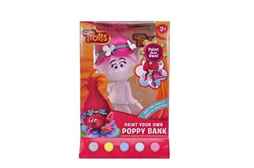 Figural Bank (DreamWorks Trolls Poppy Figural Coin Bank, Unpainted, 10