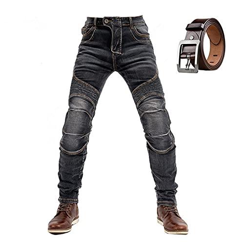 WWYL Motorradhose Für Herren,Herren-Schutzjeans, Sportliche Motorrad Hose Mit Protektoren Motorradhose, Motorradhose Mit…