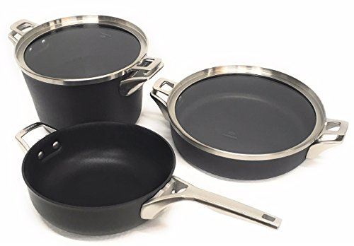 Calphalon Premier Space Saving Supper Club Set Hard Anodized Nonstck 5 piece