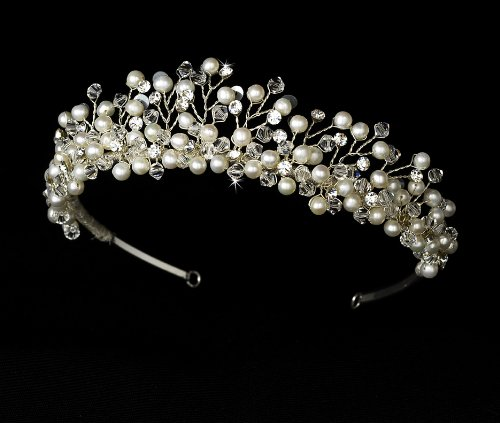 Ivory Freshwater Pearl Tiara by outlet