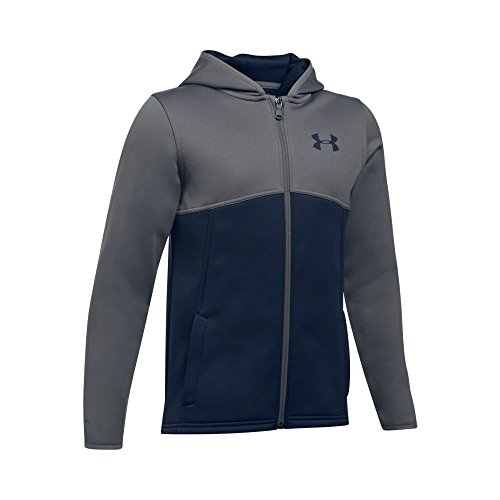 Under Armour Boys' Armour Fleece Full Zip Hoodie,Midnight Navy (410)/Midnight Navy, Youth X-Small