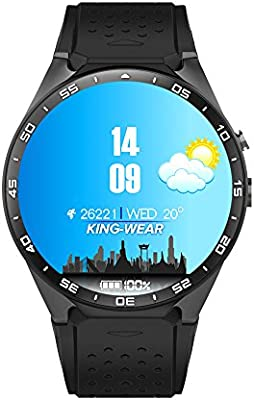Montre GPS Sport Outdoor Téléphone Intelligent KW88 Bluetooth Smart watch Moniteur de Fréquence Cardiaque SIM TF Card Slot pour Android IOS Smartphones Or- ...