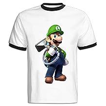 FENGTING Men's Luigis Mansion Cartoon T-shirt