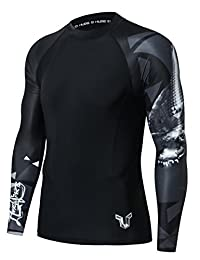 HUGE SPORTS Wildling Series UPF 50+ Quick Dry Compression Rash Guard