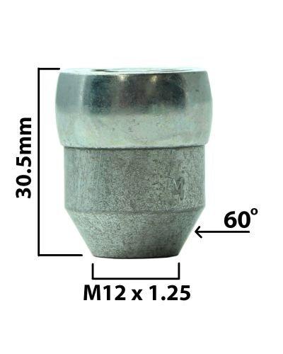 Tuercas de bloqueo de rueda STILBLOCK HEYNER 377//5 M12x1,5 NISOLP