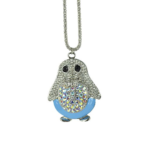 [Twinkle Crystal Metal Pendant Necklace - Opera Glam Chick (Light Blue)] (Homemade Queen Of Hearts Costume Ideas)