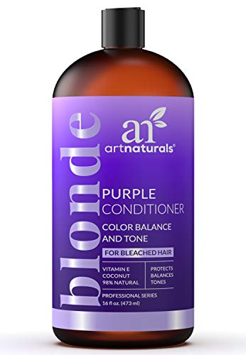 - ArtNaturals Purple Conditioner for Blonde Hair - (16 Fl Oz / 473ml) - Protects, Balances and Tones - Bleached, Color Treated and Silver Hair - Sulfate Free