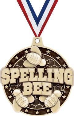 クラウンAwardsゴールドSpelling Bee Medals – 2