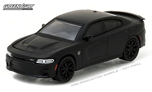 NEW 1:64 GREENLIGHT BLACK BANDIT COLLECTION SERIES 17 - BLACK 2016 DODGE CHARGER HELLCAT Diecast Model Car By Greenlight