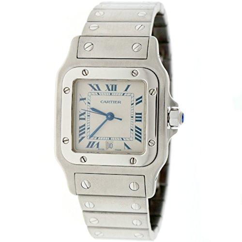 Cartier Santos Galbee analog-quartz womens Watch W20060D6 (Certified Pre-owned)