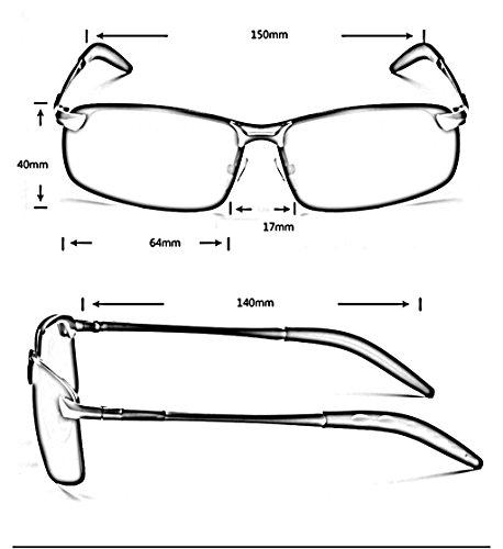 pilote de conduite B conduite de polarisant soleil A lunettes Couleur miroir Lunettes lunettes William carré soleil lunettes miroir 337 WxqTnvXt06