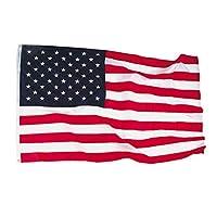 Annin Flagmakers Modelo 2220 American Flag 4x6 pies Nylon-Guard Nyl-Glo de Nylon SolarGuard, 100% Hecho en EE. UU. Con rayas cosidas, estrellas bordadas y ojales de latón.