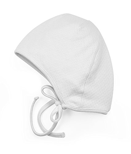 Amoureux Bebe Newborn and Baby Soft Turkish 100% Cotton Pointelle hat Bonnet. White 6 mo ()