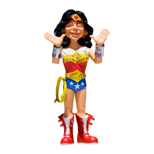 DC Collectibles Just Us League of Stupid Heroes: Series 2: Alfred E. Neuman as Wonder Woman Action Figure ()