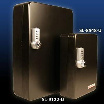 KeyGuard SL-8548-UB Dual Access Combination Key Cabinet With Black 4-Dial Combi-Cam Ultra 48 Hook