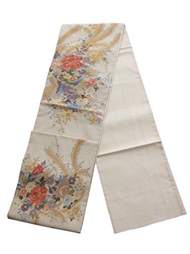 コレクション堤防腹リサイクル 袋帯 明綴れ 鳳凰と四季花 正絹 お太鼓柄