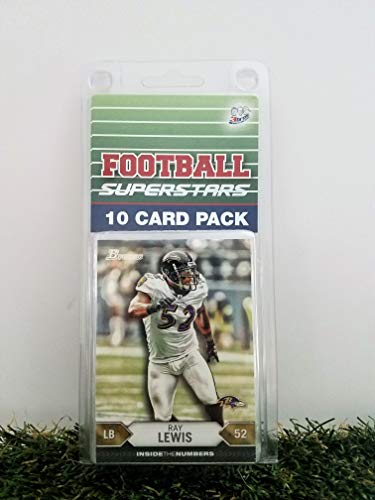 Ray Lewis- (10) Card Pack NFL Football Superstar Ray Lewis Starter Kit all Different cards. Comes in Custom Souvenir Case! Perfect for the Lewis Super Fan! by 3bros -