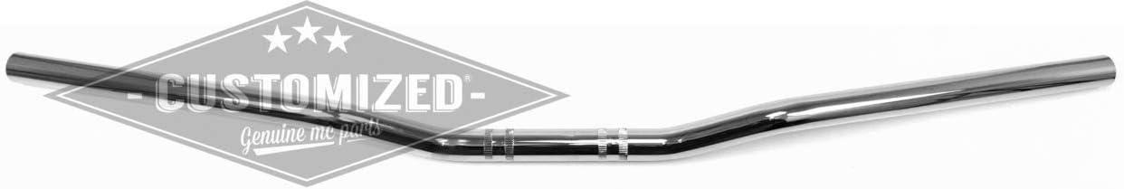 1 Pouce Guidon Flat Cross Chrom/é pour Harley-Davidson 25,4mm