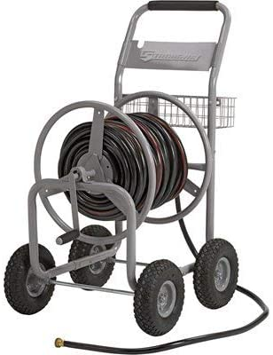 Amazon Com Strongway Garden Hose Reel Cart Holds 5 8in X 400ft Hose Garden Outdoor