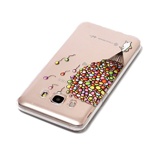 J5 2016 Case, Samsung J5 2016 Soft Case, Samsung Galaxy J510 Clear Back Cover, Cozy Hut Ultra Light Slim Shockproof Silicone TPU Gel Case [Ultra-Thin] [Lightweight] [Anti-Scratch] [Drop Protection] Tr balloon