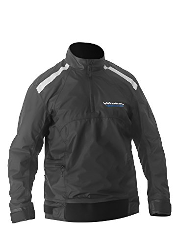 Cloth Weather Foul Jacket (WindRider Racing Spray Top | Neoprene Adjustable Waist | Neck and Wrist Seals | Waterproof, Windproof, Breathable | Reflective Striping | 3 Pockets | For Sailing, Paddling, Water Sports (Large))