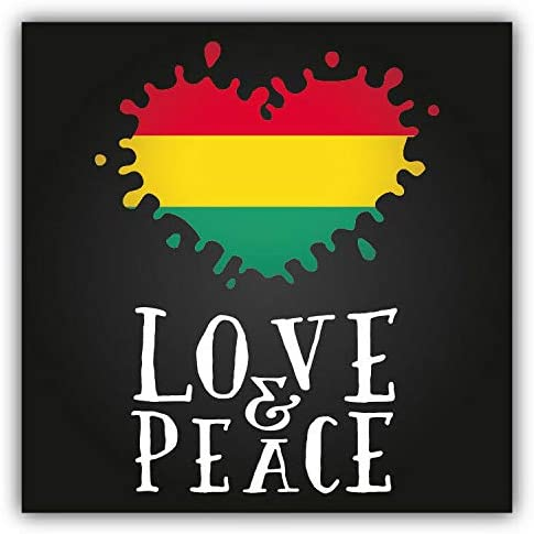 Love /& Peace Rastafarian Label Round ID Badge Key Card Tag Holder Badge Retractable Reel Badge Holder with Belt Clip