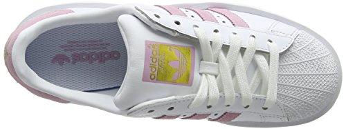 Atteint Baskets Merveille Blanc Adidas Femmes Superstar Audacieux ftwr Or Rose F10 W Ig6Pq