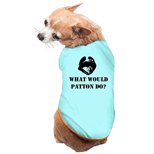 Vgd General Patton What Would Patton Do Wwpd Art SkyBlue Cool Dog T Shirt